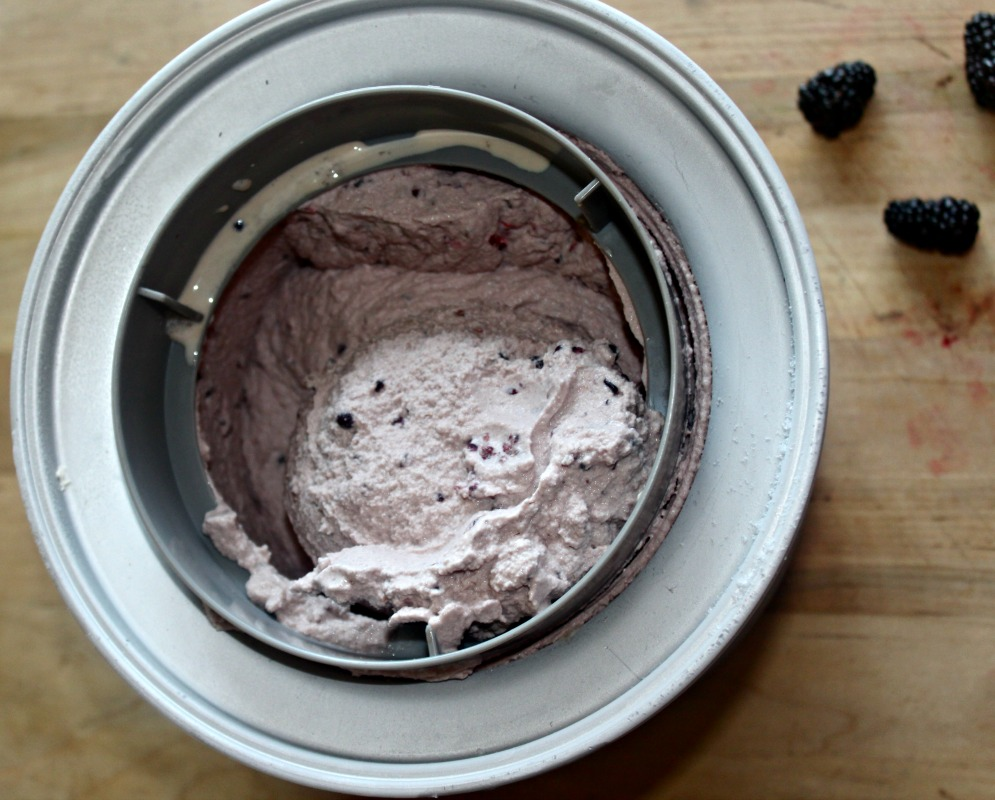 home made black berry ice cream simple and savory.com