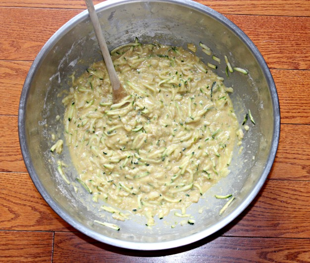 Savory zucchini bread made batter