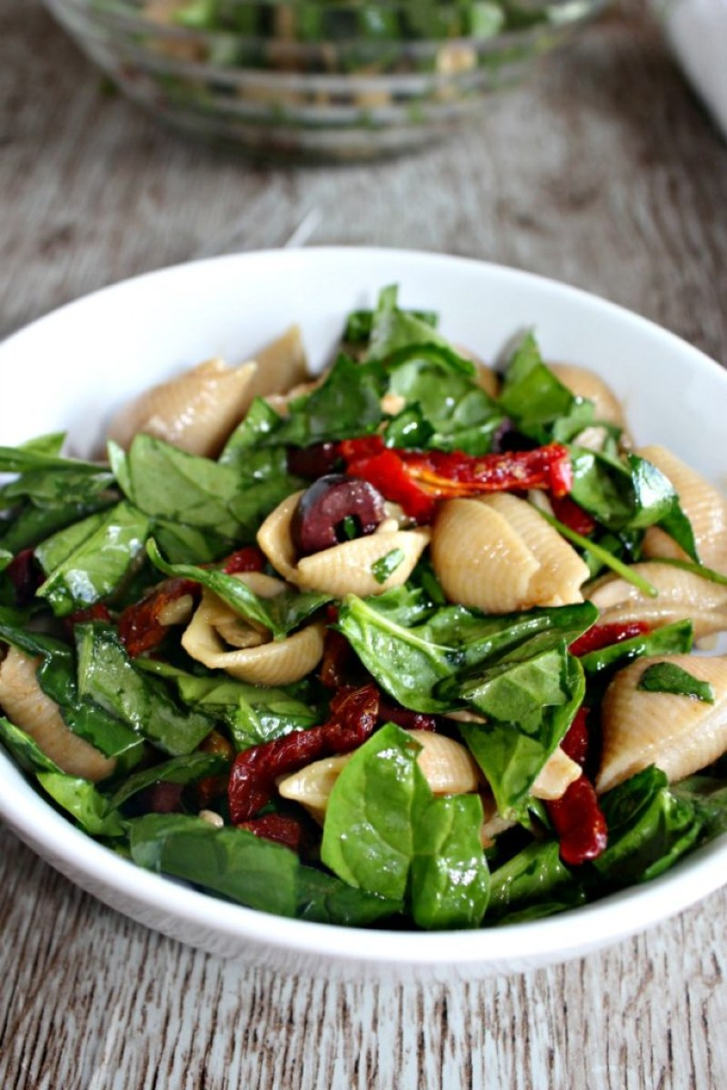Spinach Pasta Salad Simple and savory