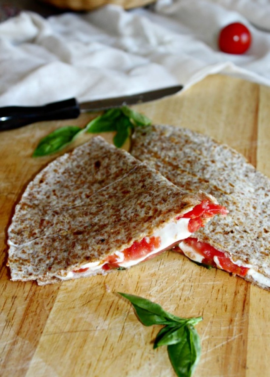 caprese quesadillas Simple and Savory.com