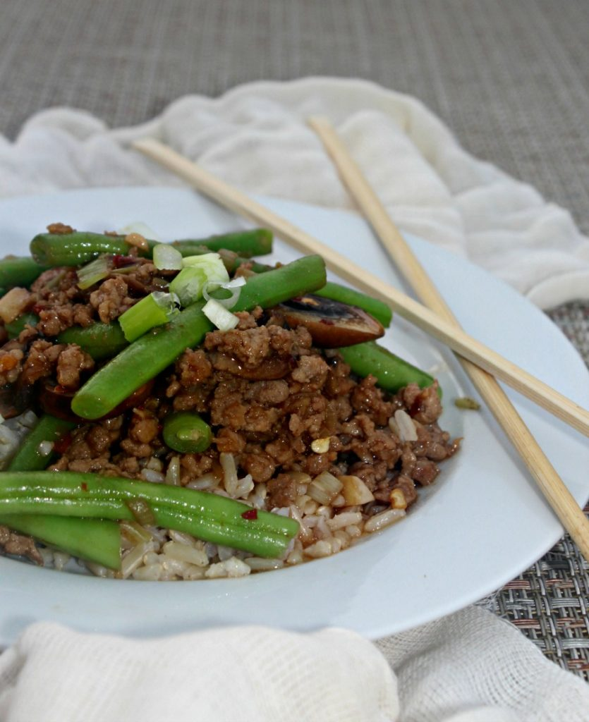 Spicy Stir Fried Green Beans and Pork