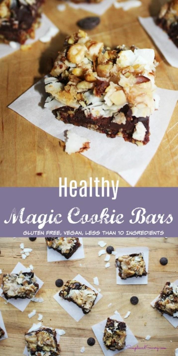 Healthy Magic Cookie Bars gluten free dairy free simplenadsavorycom