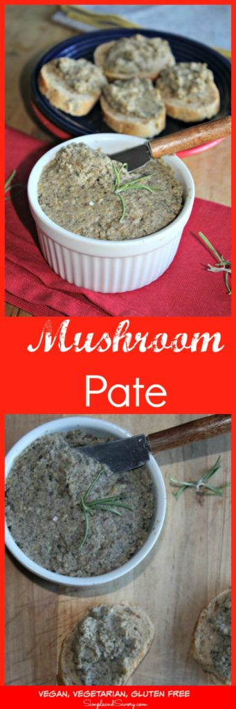 mushroom pate recipe is vegan and gluten free