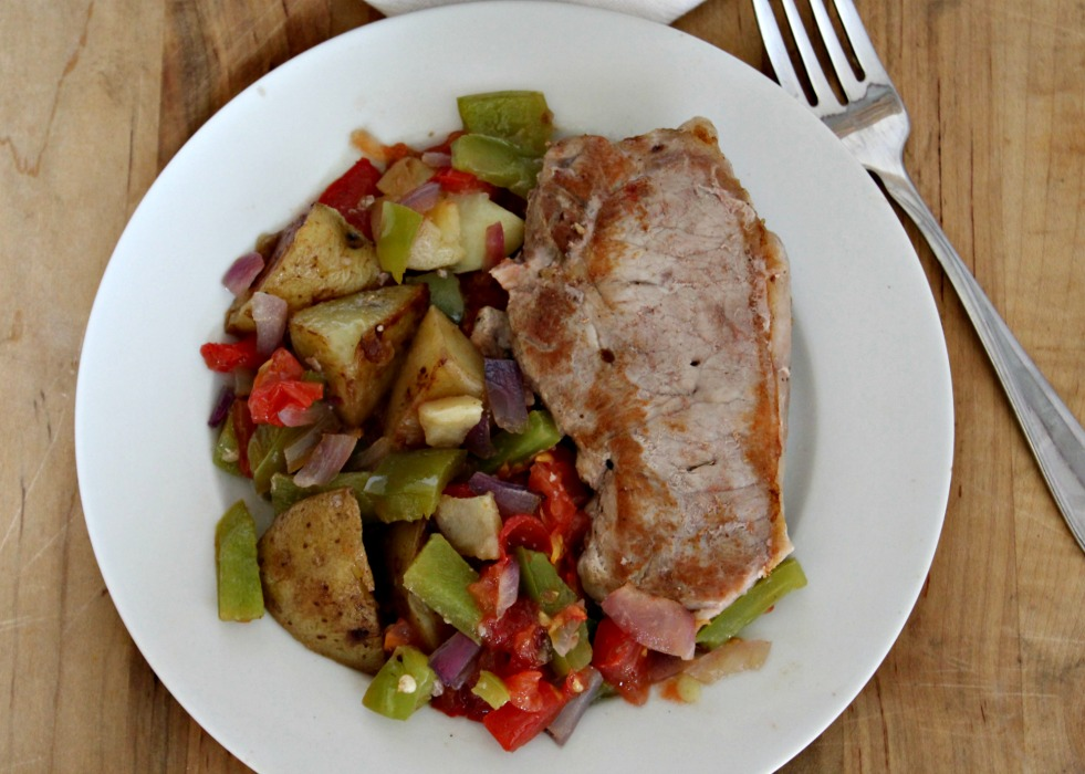 one pan pork chops with tomatoes