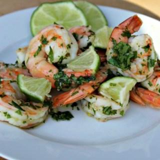 Cilantro Lime Shrimp easy apptizer made with fresh cilantro and garlic gluten free