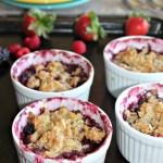 Mixed berry crumble fresh berries gluten free