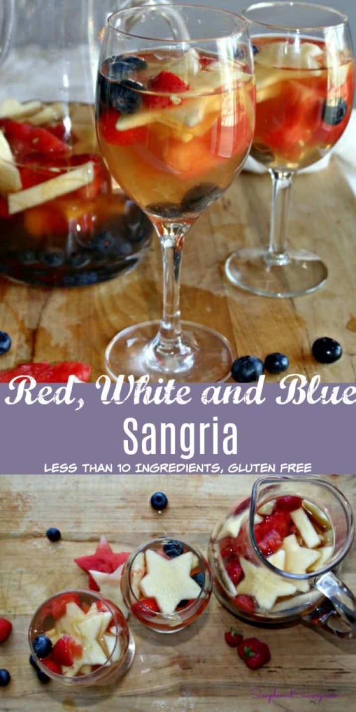 Red white and blue sangria simple and savory
