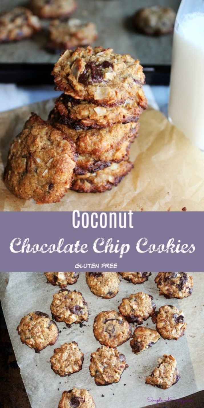 Coconut Chocolate Chip Cookies Gluten-Free simpleandsavory.com