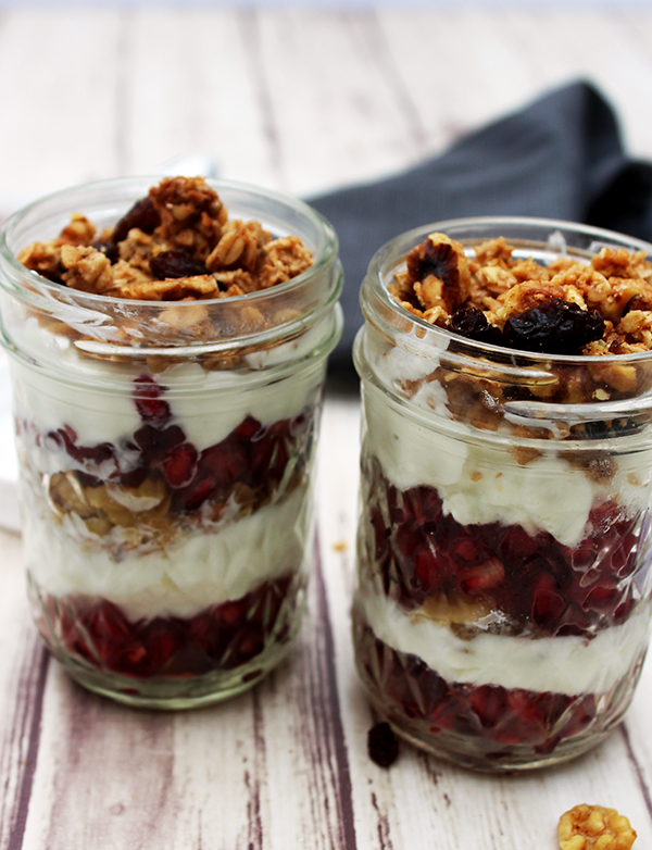 Yogurt parfait with pomegranate
