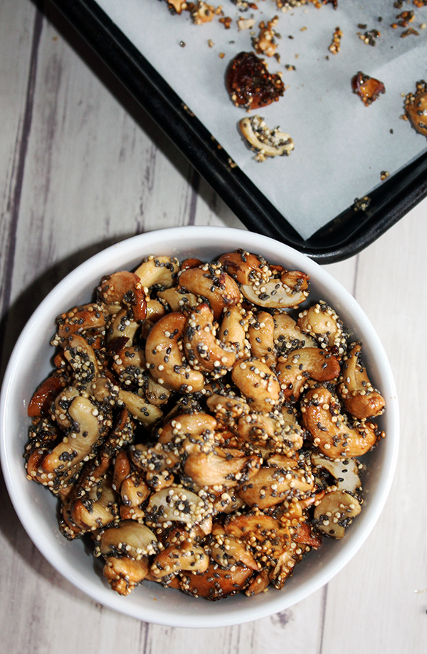 Maple glazed cashews gluten free simple and savory.com