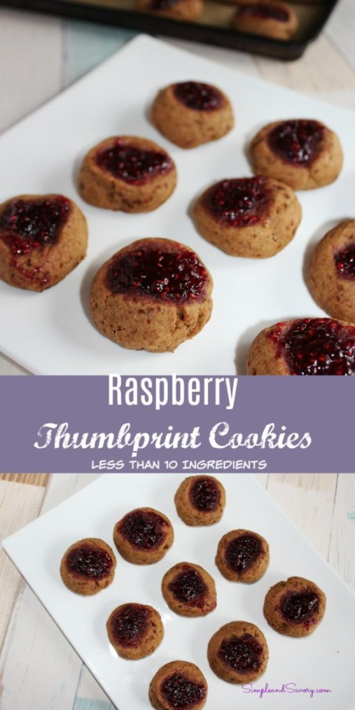 Raspberry Thumbprint Cookies naturally sweet cookies