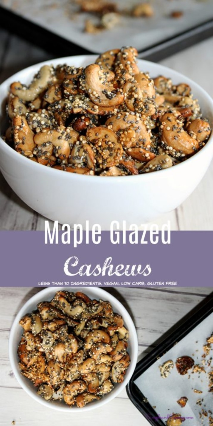 maple glazed cashews gluten free low carb simple and savory.com