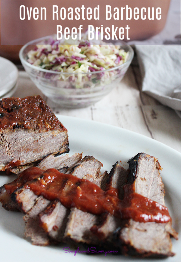 #SimpleandSavory Barbecue beef brisket sliced with homemade barbecue sauce gluten-free