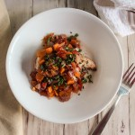 simple and savory chicken with red wine and vegetables gluten free
