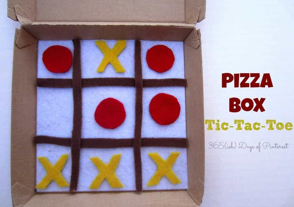 pizza box tic-tac-toe