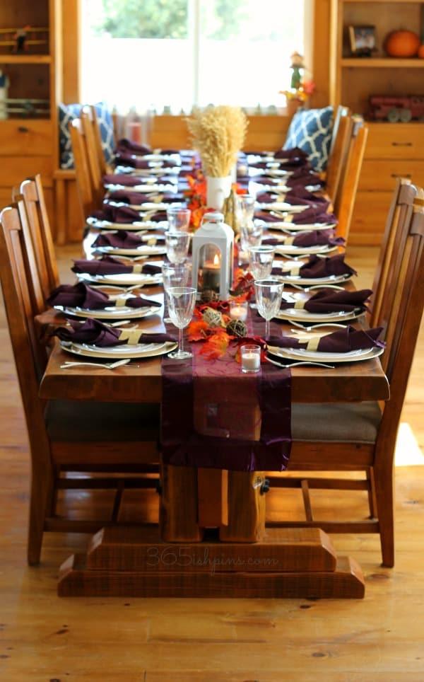 Thanksgiving farm table
