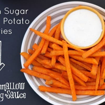 Brown Sugar Sweet Potato Fries take the best part of Thanksgiving dinner and make it easy for #GameTimeGrub this season! #ad