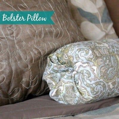 no sew bolster pillow