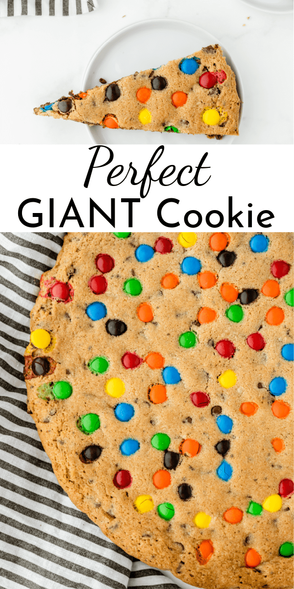Grab an enormous glass of milk and enjoy a slice of this perfect giant cookie cake! Better yet, try it warm with a generous scoop of vanilla ice cream. via @nmburk
