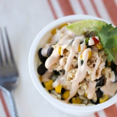 Break away from the typical sandwich or salad and try this spiced up Southwest Salmon Bowl for lunch! It's a perfect solution for an on-the-go lunch that's wholesome and delicious!