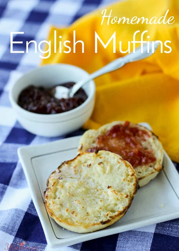 Start your day with these easy Homemade English Muffins made with mason jar rings and cooked on a griddle! homemade bread | breakfast |  via @nmburk