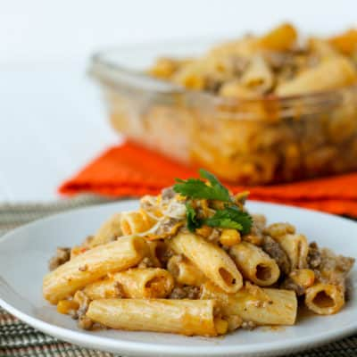 """Creamy Taco Pasta is an easy weeknight dinner with just a few (kid-friendly) ingredients. This will become one of your """"go to"""" meals!"""