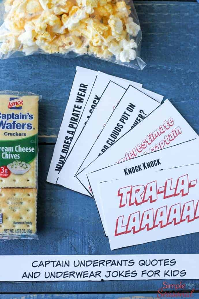 Add some outrageous fun to your child's day with these Captain Underpants Printable Lunchbox Notes! Silly jokes about underwear and quotes from the hero himself are sure to be a hit!  via @nmburk