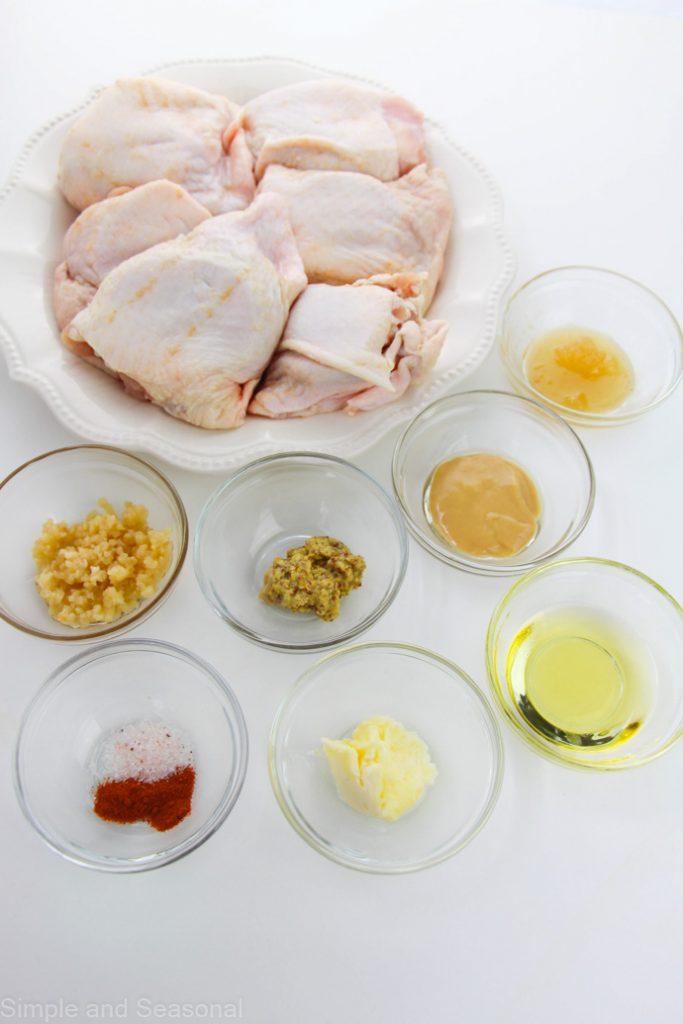 honey mustard chicken thigh ingredients