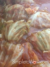 passover stuffed cabbage after cooking