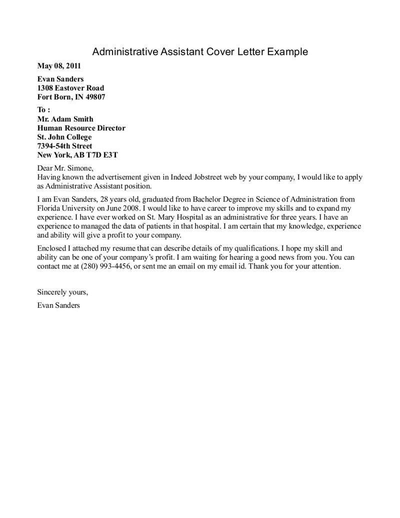 Cover Letter Template For Medical Office Assistant Samples