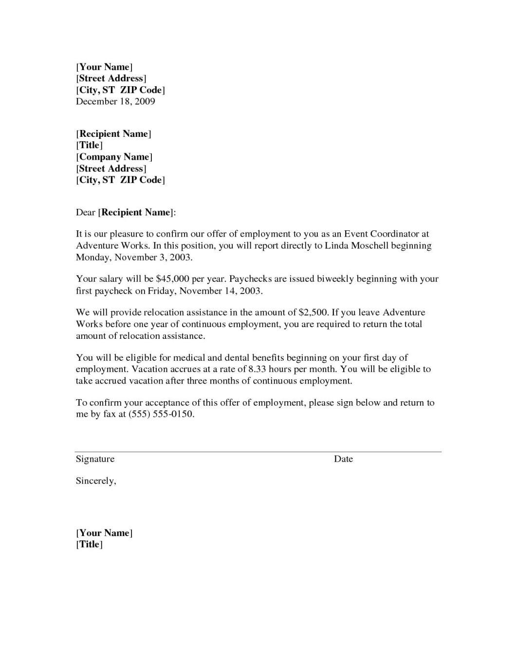 Employer Job Transfer Letter Sample   Bestletters co