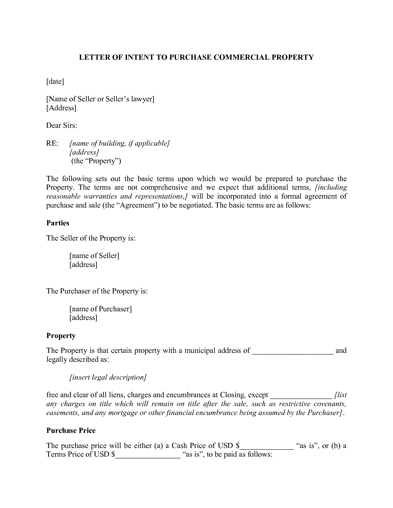 Sample Letter Of Intent To Purchase Pdf 13 Purchase Letter Of Intent ...