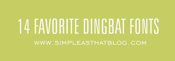 14 Favorite Dingbat Fonts