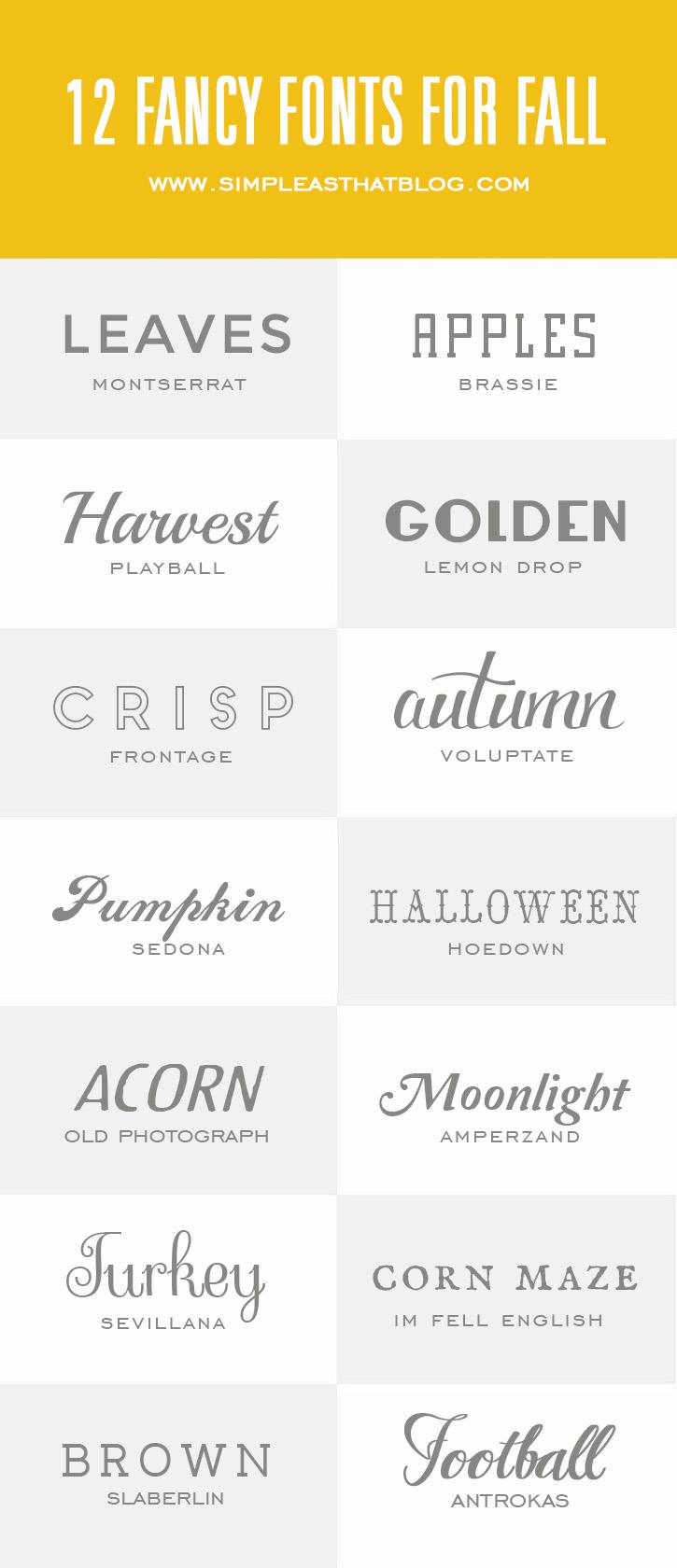14 Fancy Fonts for Fall
