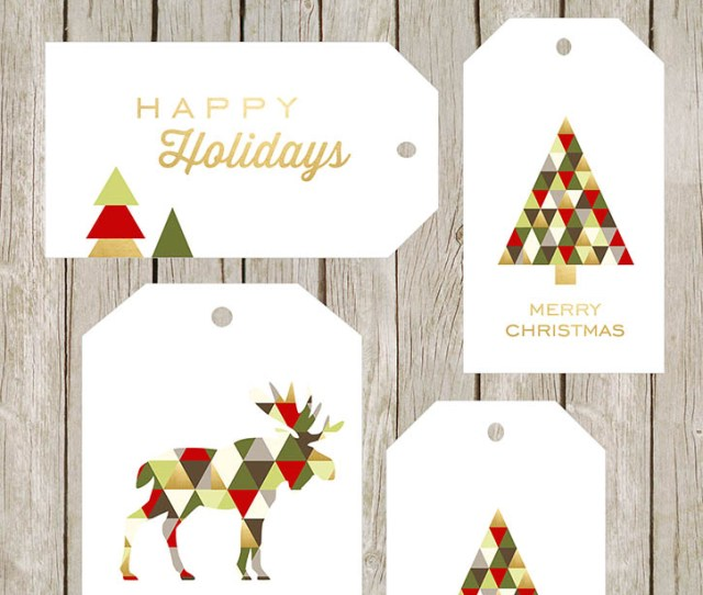 Free Printable Merry Bright Gift Tags I Love That Moose