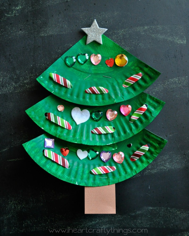 Paper Plate Christmas Trees