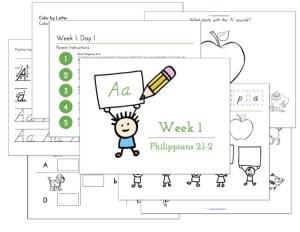 Preschool Handwriting program