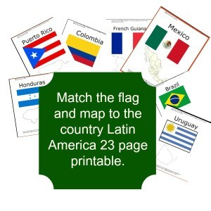 Latin America Countries Flag and Map Match *Free Printable*