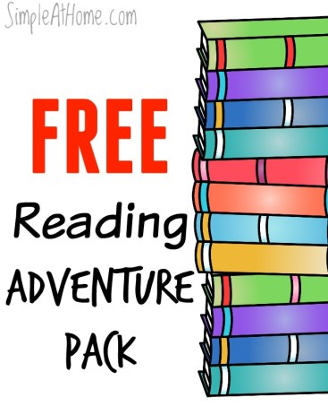 Set your child on a Reading Adventure with FREE this reading adventure pack
