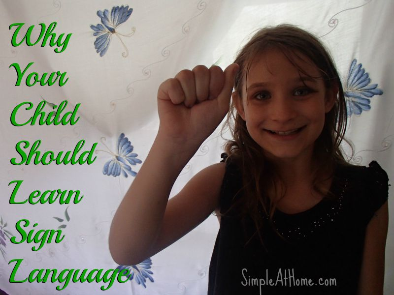 The amazing benifits of teaching your child sign language