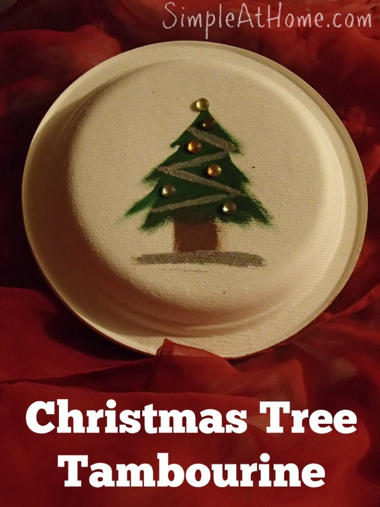 Christmas Tree Tambourine Craft and Music Lesson for Kids