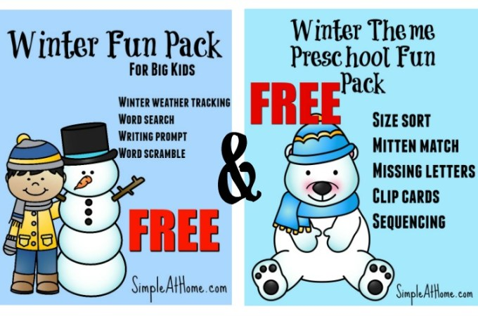 Winter Fun With FREE Print Packs