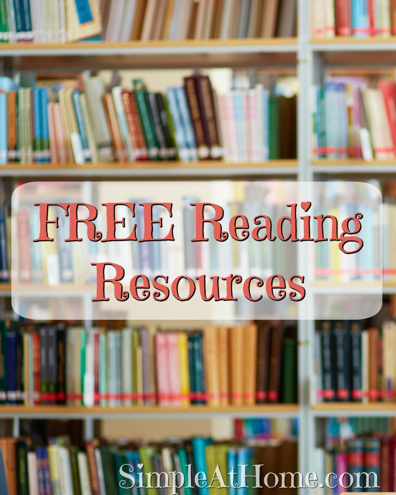 Free Reading Resources for parents, teachers, and homeschool.