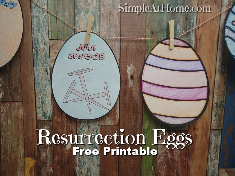 picture about Resurrection Egg Story Printable titled Resurrection Eggs Shade Your Particular Playing cards Printable Very simple At
