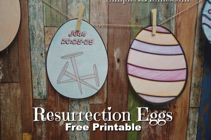 Resurrection Eggs Color Your Own Cards Printable