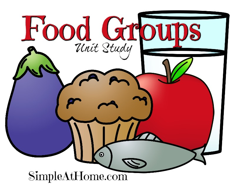 Food groups unit study with activity idea, books, and FREE printable GAME. food groups activities for kids