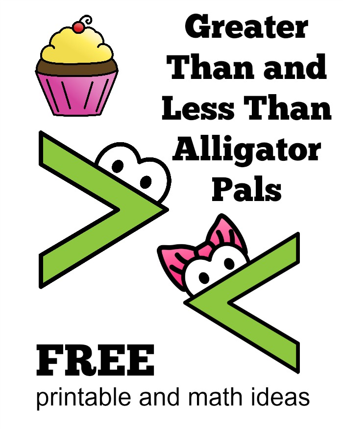 photo regarding Greater Than Less Than Alligator Printable known as Alligator Math Basic At Household