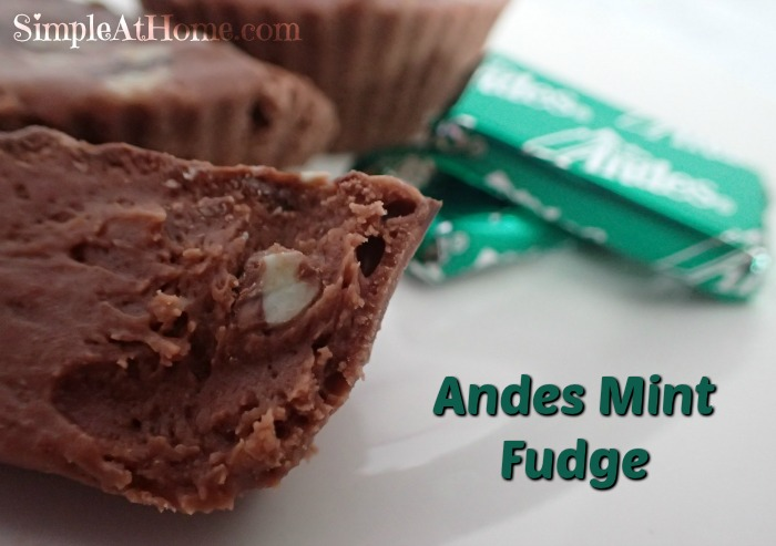 DIY Andes Mint Fudge perfect for homemade holiday gifts