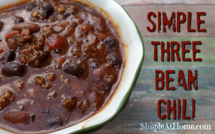 Simple Three Bean Chili