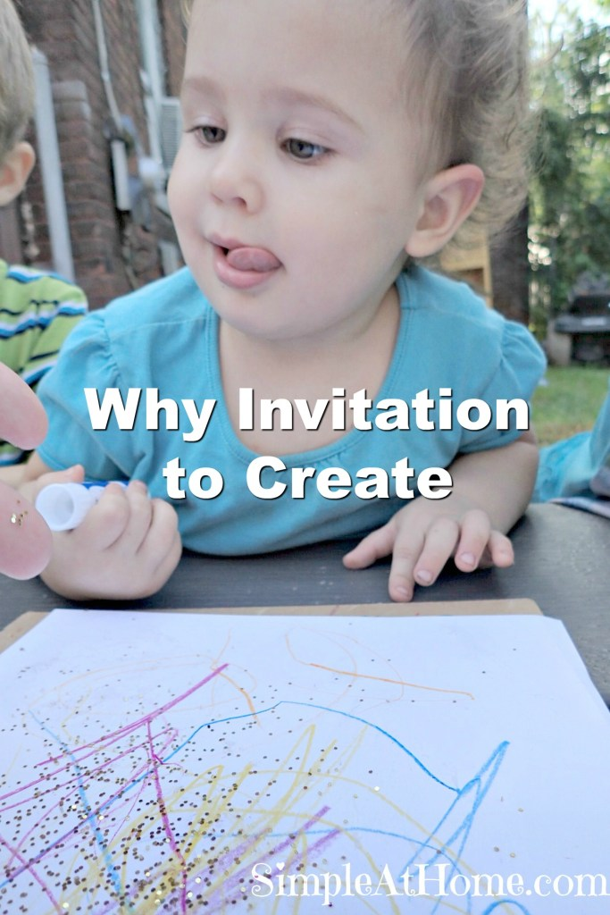Why should you try invitation to create? How process art can help prepare your child for the future.